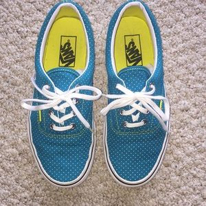 Vans era yellow polka dots skate shoes sneakers